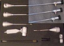 Амниоскоп (amnioscope) АВ-ВС-1 с тремя оптическими трубками 0, 30 и 75 градусов.