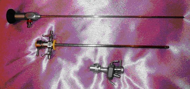 Цистоуретроскоп смотровой с трубкой 30 градусов и двухканальным переходником