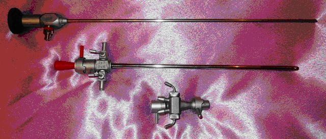 Цистоуретроскоп смотровой с трубкой 30 градусов, стволом 19Ш и двухканальным переходником