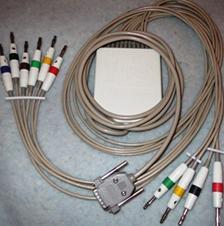 Выносной блок с кабелем отведений для кардиографа