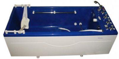 Ванна Okkervil, комплектация «Комби» с шлангом для подводного душ-массажа Объем 350 литров