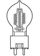Лампа галогенная 240V 650W DYR