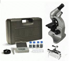 Микроскоп монокулярный учебный XSP-45 с пластиковым кейсом и набором микропрепаратов