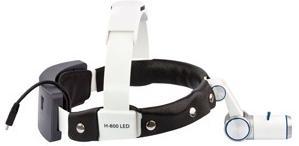 Налобный осветитель Н-600 LED (с 2-мя аккумуляторами, крепятся на ремень и на головной обруч)