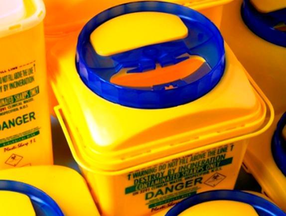 Емкость-контейнер универсальный для сбора медицинских отходов и острого инструментария  объемом 10 литров