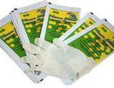 Перчатки смотровые латексные стерильные опудренные неанатомической (плоской) формы
