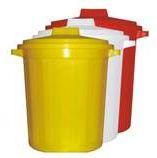 Баки многоразовые для сбора отходов с крышкой объемом: 10, 20, 35, 50 и 65 л. (А-белый, Б-желтый, В-красный)