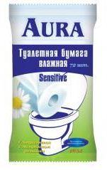 Влажная туалетная бумага с экстрактом ромашки