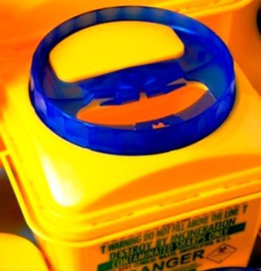 Контейнер для сбора медицинских отходов объемом 10 литров