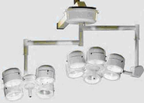 Светильник хирургический потолочный 2-х блочный СРБУ-2 (4+6)