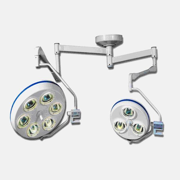 Светильник хирургический потолочный 2-х блочный Альфа-763 (6+3)
